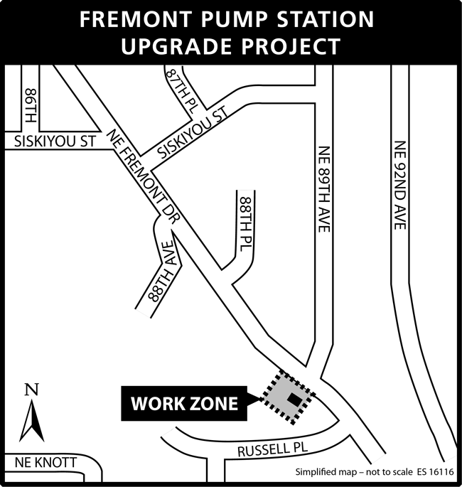 Fremont Pump Station project map