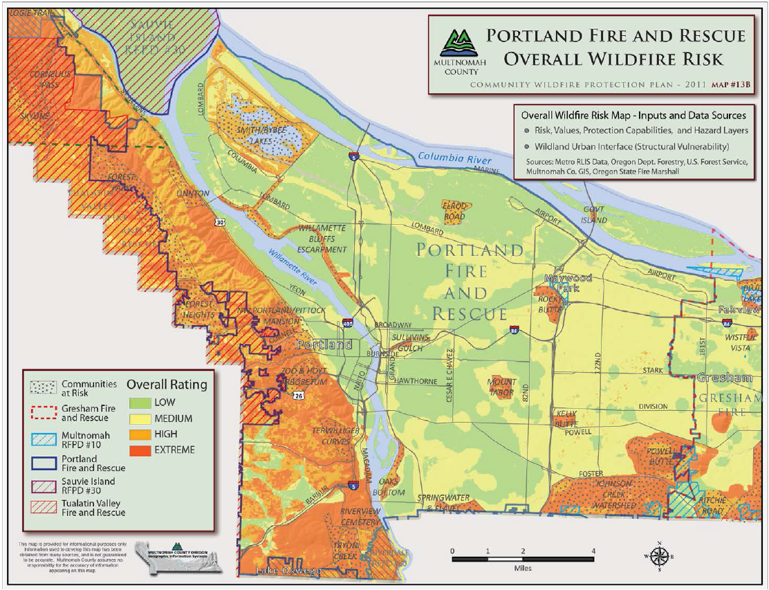 Reducing The Risk Of Wildfire The City Of Portland Oregon