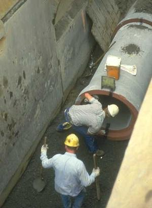 Sewer construction photo