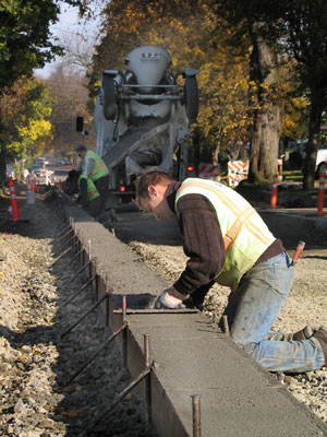 Photo: Building curbs