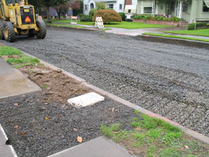 Photo: Preparing street subsurface