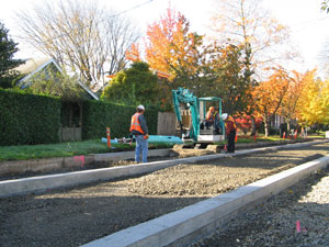 Photo: Adding sub surface gravel