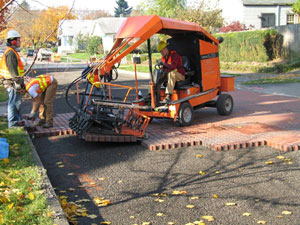 Photo: Installing permeable pavers