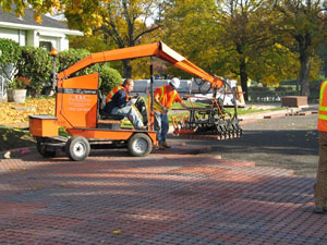 Photo: Installing pavers