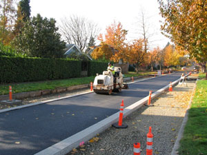 Photo: Conventional paving
