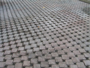 Photo: Finished permeable paver installation