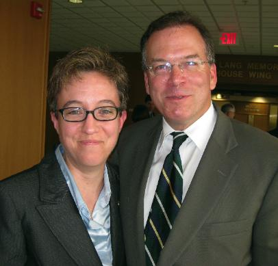 Commissioner Nick Fish with Oregon State Representative Tina Kotek