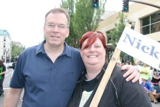 Commissioner Fish was excited to join the 2009 Portland Pride Parade