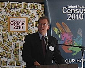 Nick speaks at the opening of Portland's Census office on NE Columbia Boulevard