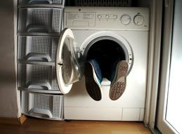 Person stuck in washing machine!