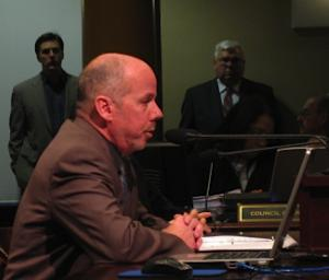 CCC Executive Director Ed Blackburn before Council this morning