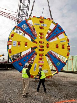 Christening Rosie the tunnel boring machine