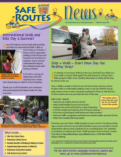 Safe Routes News - Winter 2009