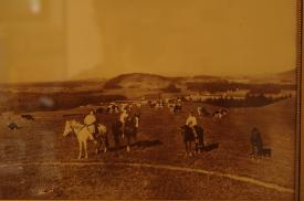 The Anderegg family is pictured riding horses on what we now know as Powell Butte.