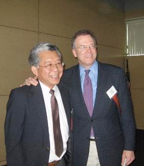 At right, Nick with Tom Matsuda, Executive Director of Legal Aid Services of Oregon