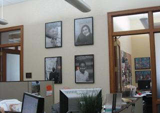 Four of the ten photos on display in our office
