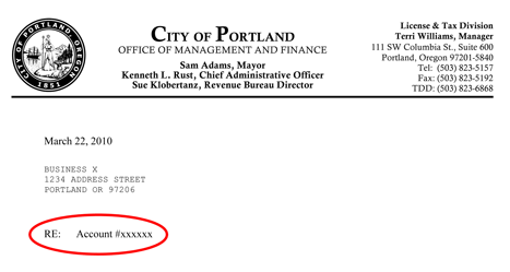 Account services frequently asked questions the city of portland image sample letter 2 spiritdancerdesigns Gallery