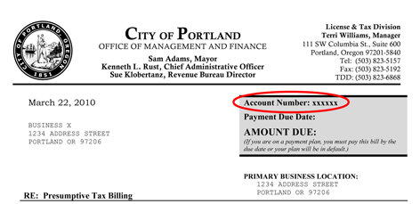 Account Services | Frequently Asked Questions | The City of ...
