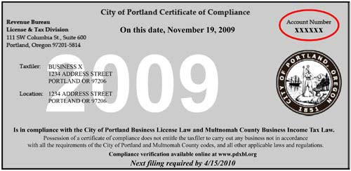 Account services frequently asked questions the city of portland image certificate of compliance thecheapjerseys Image collections