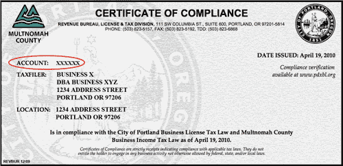 Account services frequently asked questions the city of image certificate of compliance yelopaper Choice Image