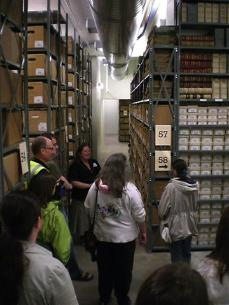 Touring the closed stacks