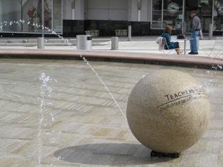 Teachers Fountain is located at Director Park in SW Portland.