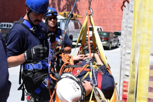 Firefighters Practice Rope Rescue Training Fire Blog