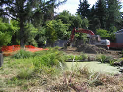 Errol Creek project construction 2009