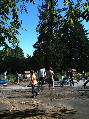 Vermont Hills Church depave event