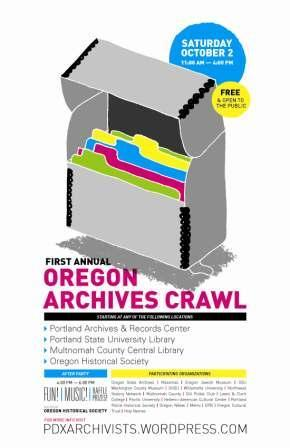 Oregon Archives Crawl poster