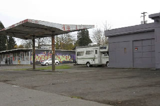 former gas station site