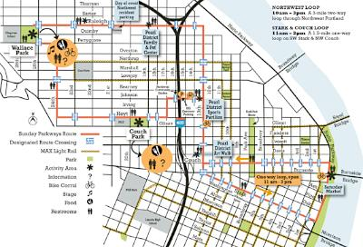 Sunday Parkways Northwest Portland Map