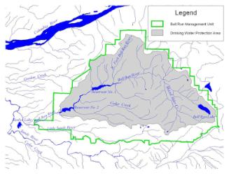 Area for water source assessment report.