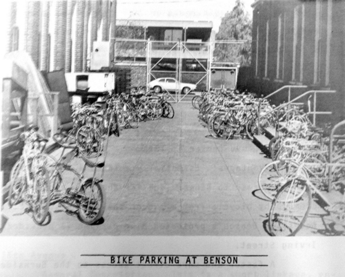 Bike Parking at Benson, circa 1973