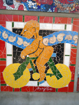 Bike mosaic from Antofogasta, Chile