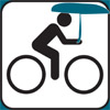 Bike & umbrella graphic