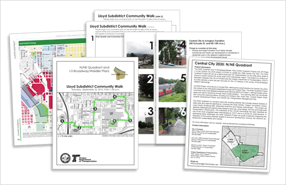 Lloyd Community Walk Guide and Zoning Map