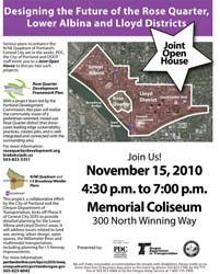 Flyer for the November 15, 2010 Joint Open House
