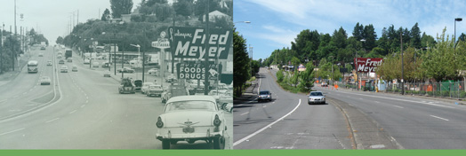 Barbur Boulevard Then and Now