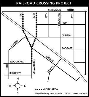Railroad Crossing Project map