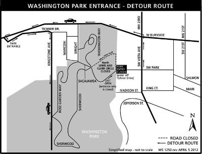 Washington Park entrance closure map