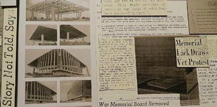 Memorial Coliseum collage detail