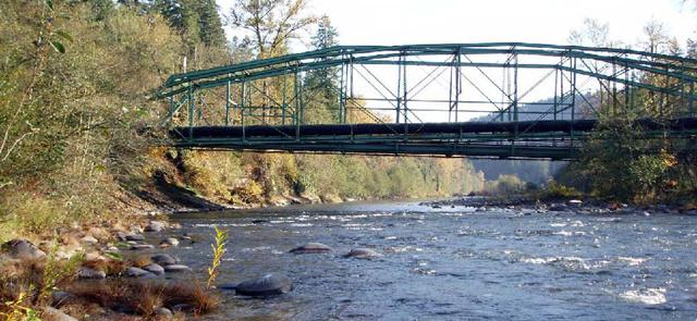 Sandy River conduit bridge needs a new home...