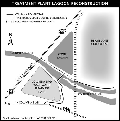 Lagoon reconstruction project map