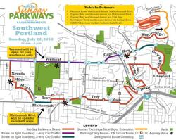 SW Sunday Parkways route map