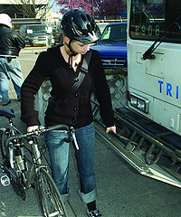 loading a bike on bus
