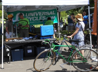 Universal Cycles bike repair booth