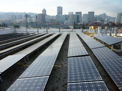 Solar and ecoroofs make friends in portland city green for Solar energy portland