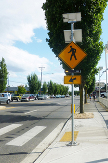 Photo of rapid flash beacon crosswalk