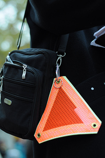 Bag with reflector attached